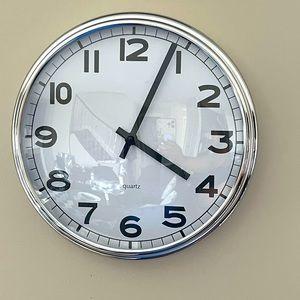 Beautiful silver wall clock